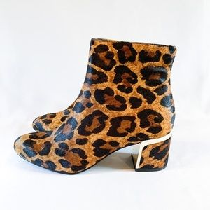 DKNY leopard ankle booties NWT